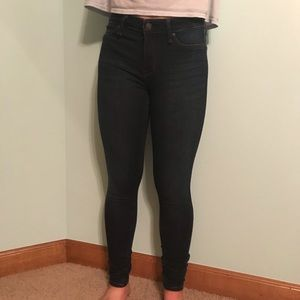 Low rise Abercrombie and Fitch dark wash jeggings